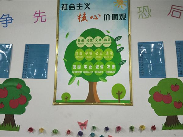王艺珺老师亲手制作的班级文化墙