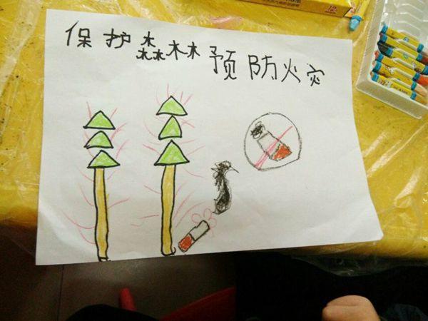 保护森林幼儿主题绘画