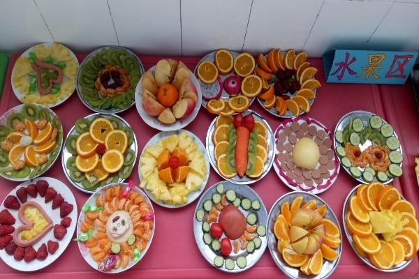 幼儿园蛋糕盘平面手工制作花