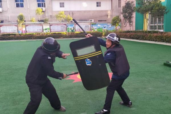 [嵩阳办]天骄幼儿园开展安保器械实操培训活动